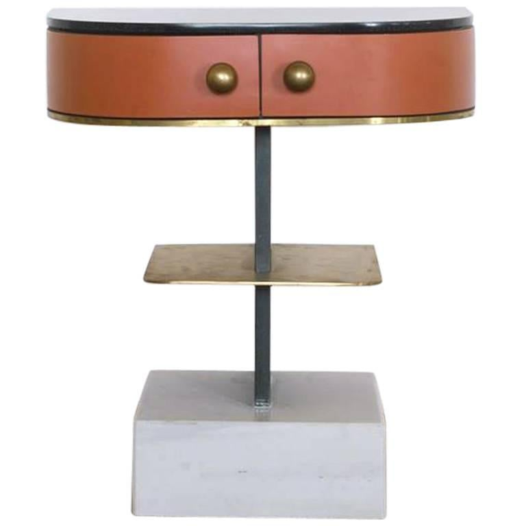 Invisible Brass Side Table, Rooms