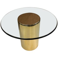 Brass Side Table by Pace