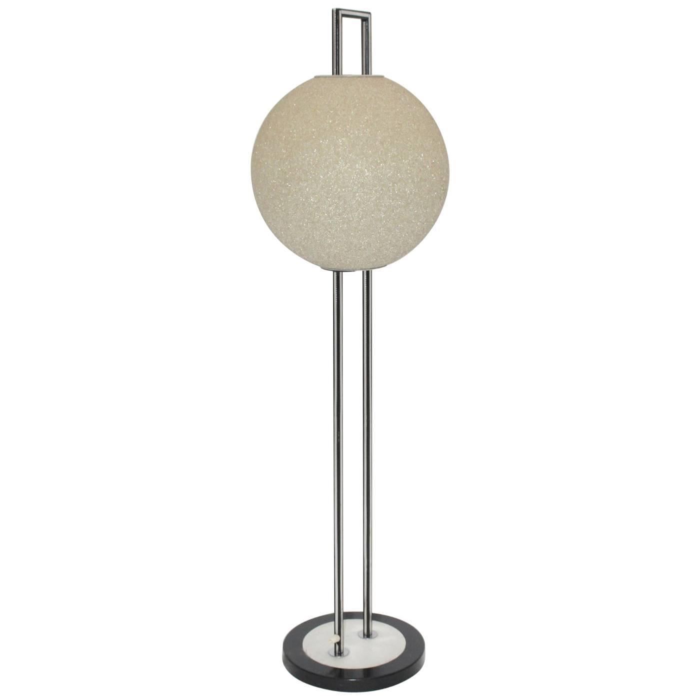 Space Age Metal Plastic Vintage Floor Lamp, 1960s