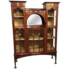 Mahogany Inlaid Shapland & Petter Display Cabinet