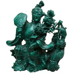 Chinese Malachite Statuette