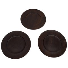 Danish Midcentury, Jens Harald Quistgaard, Three Cover Plates, Wenge, Kronjyden