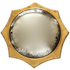 Italian Midcentury 22-Karat Water Gilt Soleil Sunburst Wall Mirror