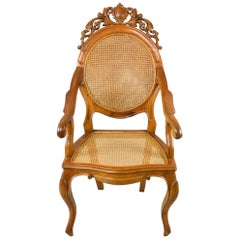 Prime Contemporary Grace Cane Lounge Chair In Cane And Solid Wood Dailytribune Chair Design For Home Dailytribuneorg