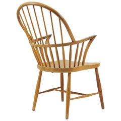 1960s Danish Frits Henningsen CH 18A High Back Chair in Oak by Carl Hansen & Son