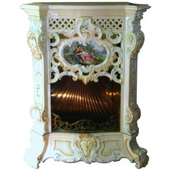 Fireplace by Villeroy & Boch in Ceramic Porcelain, Germany Saxonia, 1769