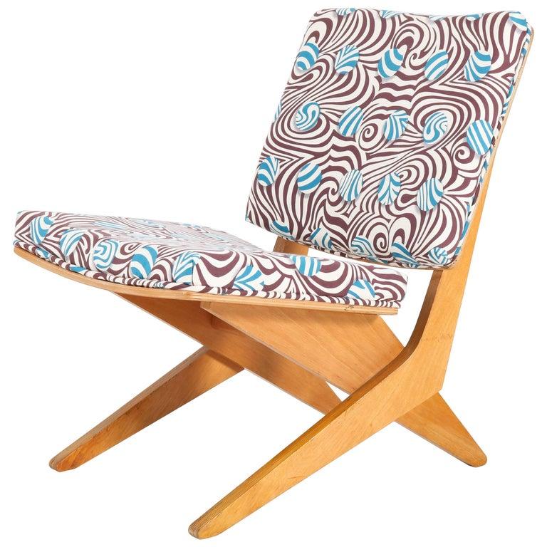 Dutch Mid-Century Modern FB18 Scissor Chair by Jan van Grunsven for Pastoe, 1959