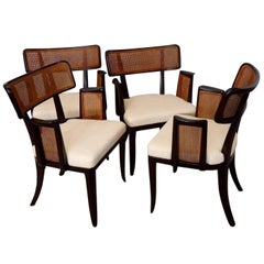 Four Edward Wormley for Dunbar Dining Chairs