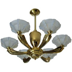 Art Deco Chandelier by Boris Lacroix, France, 1935