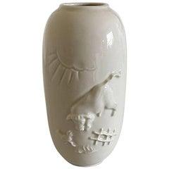 Royal Copenhagen Blanc de Chine Vase by Bode Willumsen #20498