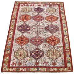 Soumak Caucasian Design Silk Carpet