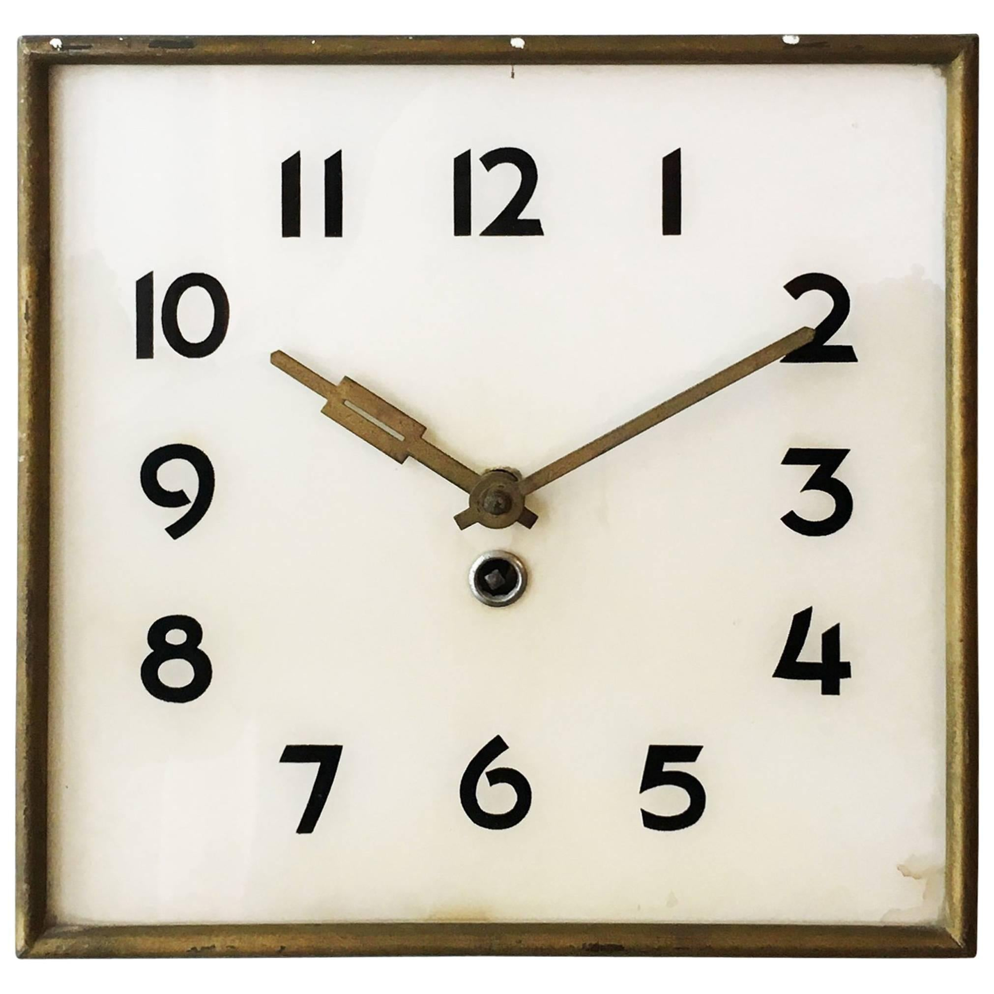 Art Deco Wall Clock By Kienzle For Sale