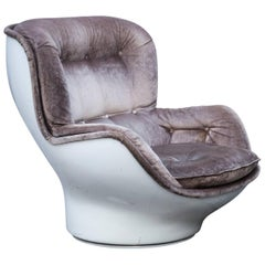 Michel Cadestin Karate Velvet Lounge Chair for Airborne, 1968