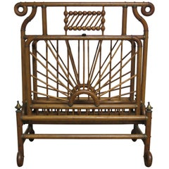 Victorian Stick and Ball Magazine Rack or Folio