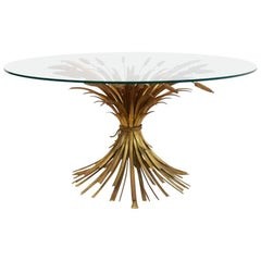 Coco Chanel Style Gilt Metal Coffee Table, France, 1960s