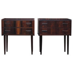 Danish Rosewood Nightstands or Side Tables
