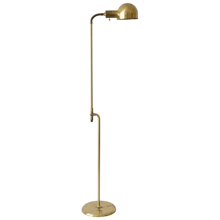 Articulated floor lamp or reading light bola by florian schulz 1970s germany for sale