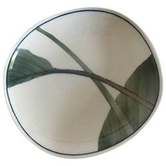 Royal Copenhagen Dish with Green Leaf Motif from 1982 by Andy CT