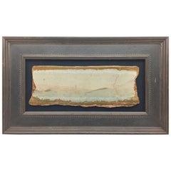 "Large Framed Italian Pietra Paesina ""Landscape Marble"" or ""Ruin Marble"" Sample"