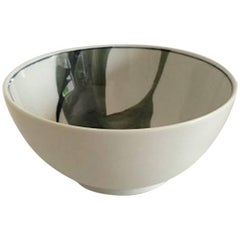 Royal Copenhagen Modern Bowl with Green Leaf Motif by Andy CT