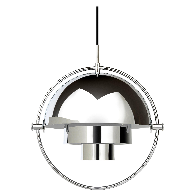 Louis Weisdorf 'Multi-Lite' Pendant Lamp in Chrome