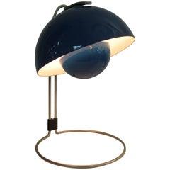 Verner Panton Blue VP4 Flower Pot Table Lamp