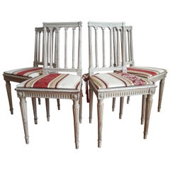 Louis XVI Style Dining Chairs, Set of Four