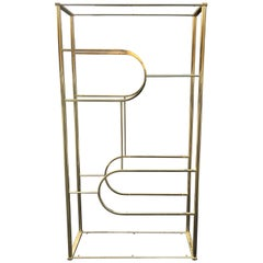 Design Institute of America Brass Etagere