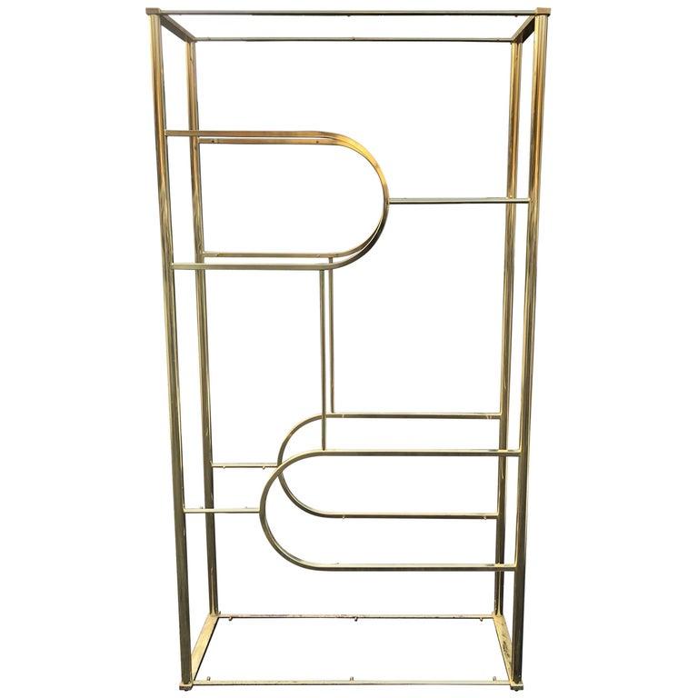 Design Institute of America Brass Etagere