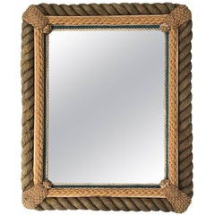 Sailor Made Nautical Ropework Mirror, circa 1920s