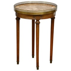 Louis XVI Style Marble-Top Gueridon Drinks Table