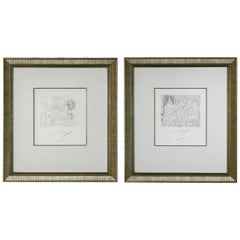 Pair of Peter Max Etchings V3 IX and XII