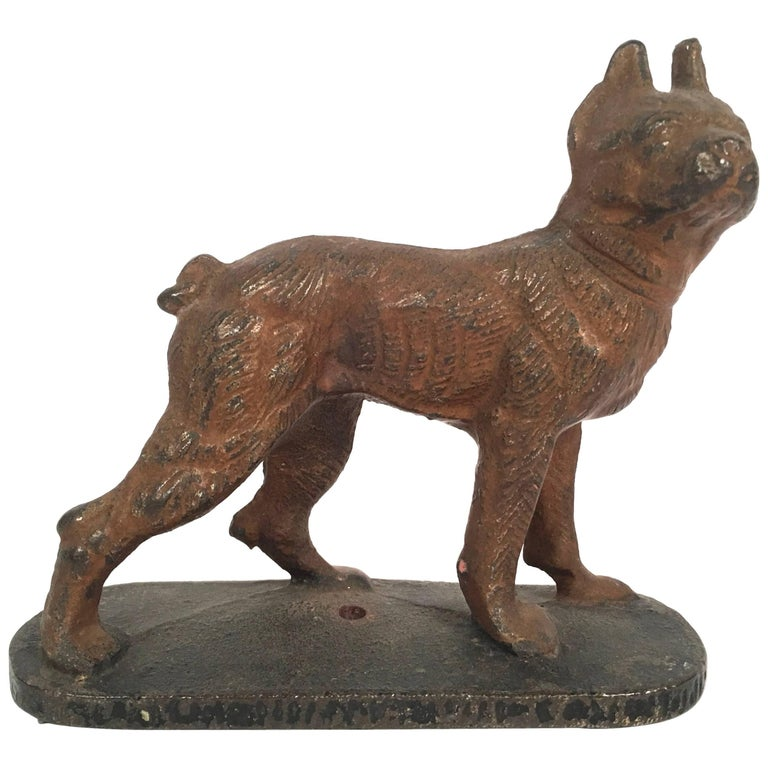 Cast Iron Boston Terrier Paper Weight