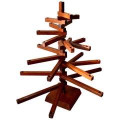 Japanese Articulating Wood Candelabra