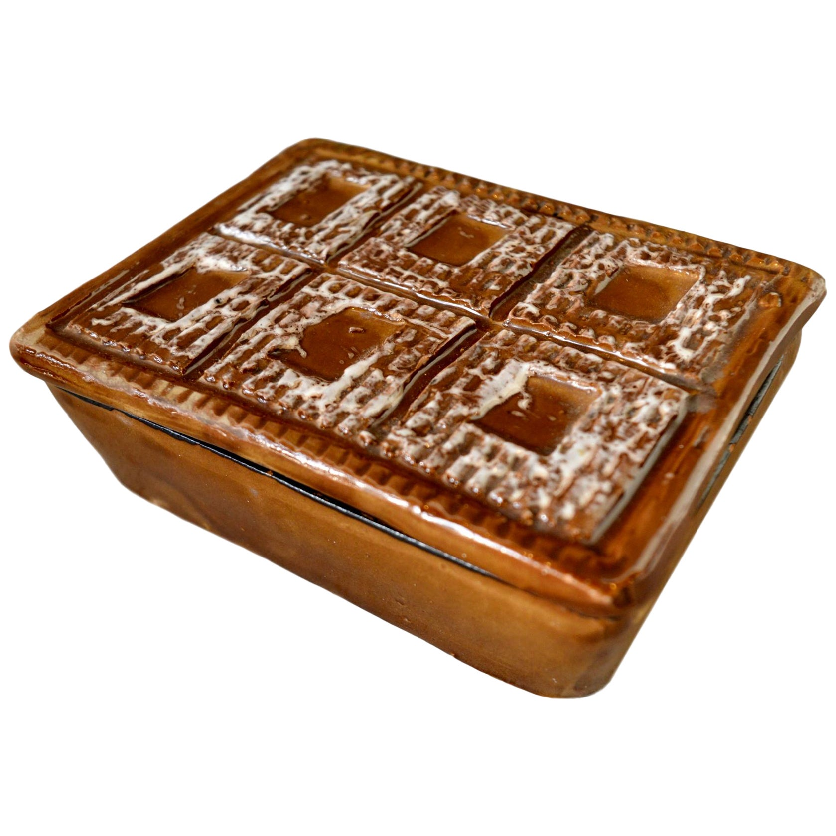 Italian Ceramic Brown Box