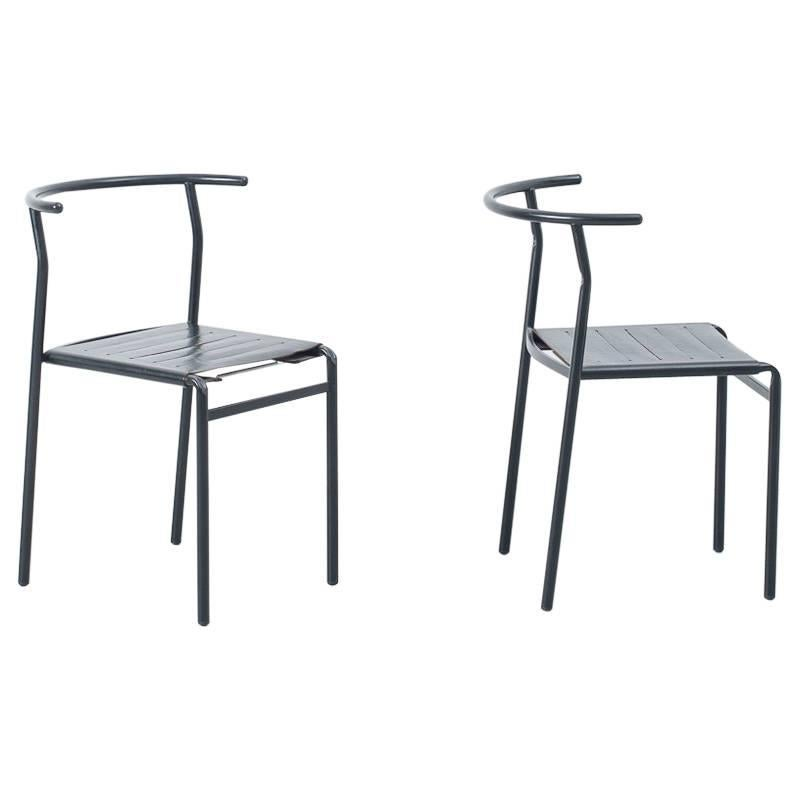 Set Of Six Philippe Starck Café Chairs