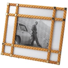 Mid-Century Modern Large Lemon Tree Wood Picture Photo Frame by Noel BC, Italy