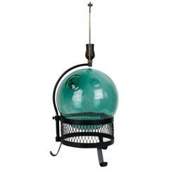 Midcentury Japanese Fishing Float Lamp