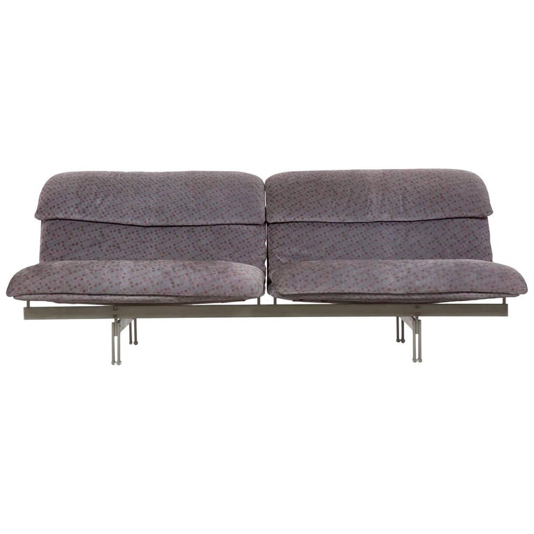 "Giovanni Offredi for Saporiti ""Wave"" Two-Seat Sofa, Italy, circa 1970s For Sale"
