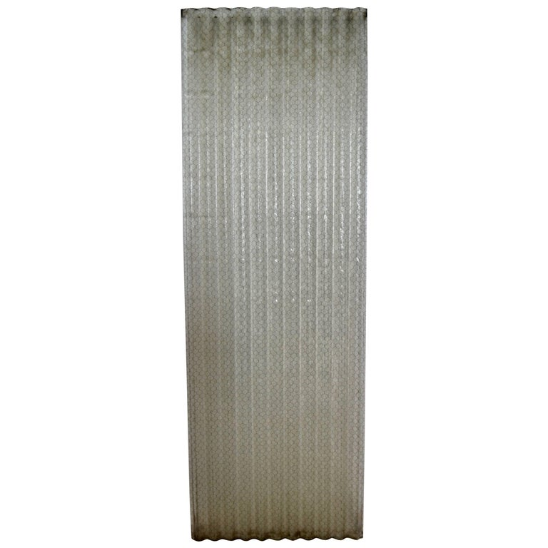 Corrugated Chicken Wire Glass Panels For Sale