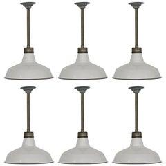 White Enameled Appleton Factory Lights