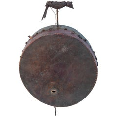 Shaman Drum with Carved Bird from Nepal, Mid-20th Century