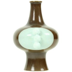 Midcentury Glazed Porcelain Vase by Kravsko, Czechoslovakia, circa 1960