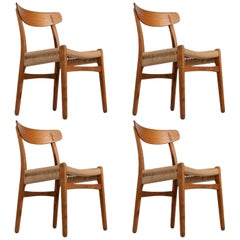 Early Hans Wegner Dining Chairs Model CH-23 by Carl Hansen & Son, Denmark