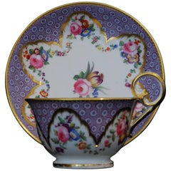 Cup and Saucer, Roses and Tulips, Nantgarw, circa 1815