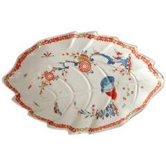 Leaf Dish, Two Quail Pattern, Bow Porcelain Factory, circa 1758