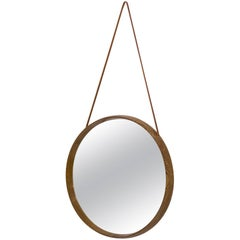 Round Wall Mirror by Uno & Östen Kristiansson, Luxus, 1950s