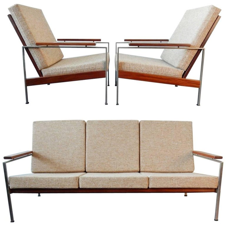 Seating Group of Two Lounge Chairs and a Sofa by Rob Parry for Gelderland, 1960s