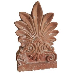 Late 19th Century Etruscan/Roman Style Terracotta Antefix
