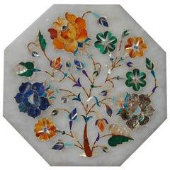Mid-20th Century Italian Marble Pietra Dura Tile